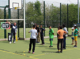 West Itchen Community Trust In Southampton Gets Cage Cricket Kit